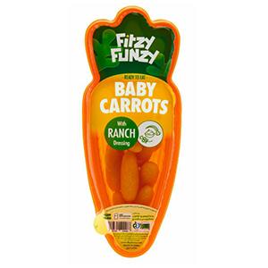 خرید بچه هویج ، اسنک بچه هویج با سس رنچ