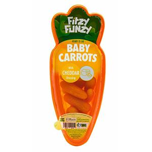 اسنک بچه هویج با سس چدار